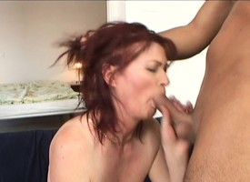 Slutty redheaded cooky strokes say no to tits for ages c in depth bouncing more than a bushwa