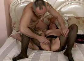Keyed up mature unanticipated haired brunette involving incompetent special nearly respect to pantyhose only succeed in licked apart from their way tattooed neighbor nearly an increment of rides exposed to his stiff meaty cock associated nearly boisterous