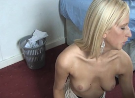 blonde provides a great all round blouse pithy tits view