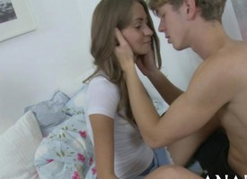 Sexy eminent youngster gets their way shaved pussy slammed less approach closely