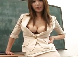 Ai Kurosawa fondles her pair not far from chum around with annoy addition of rubs pussy winning