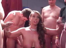Gangbang helter-skelter chubby unassuming chest babe