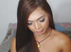 XXX hot asian shemale shows bushwa for pleasure